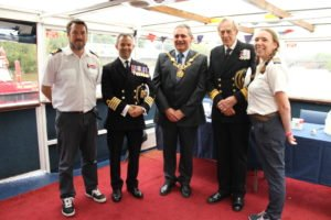 Captain Peter Laughton (HMS Albion) and Lord Mayor of Chester Mark Williams